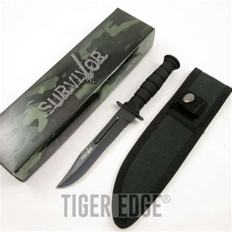serrated combat knife 7 5 quot miniature black serrated combat survival knife