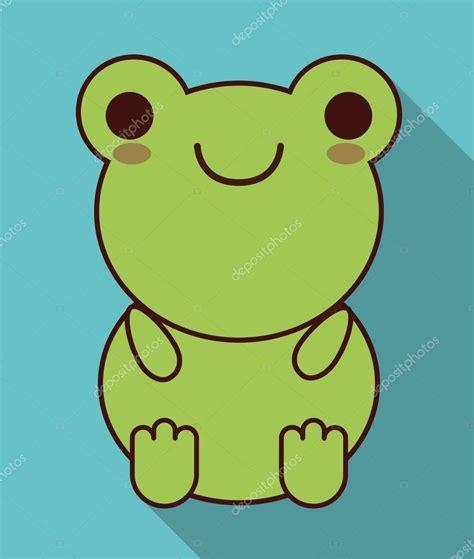 Imagenes De La Rana Kawaii | icono de rana kawaii lindo animal gr 225 fico vectorial