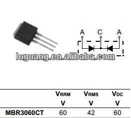 schottky barrier rectifier vs diode 20a schottky barrier rectifier diodes mbr2060ct