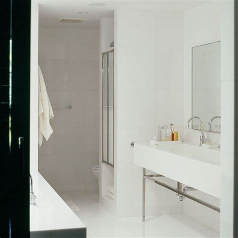 white tiled bathroom ideas contemporary bathroom with white tiled walls housetohome