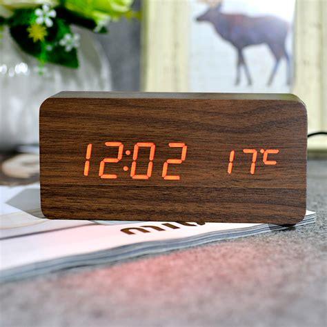 clock themes free desktop digital clock wooden wall clock pin wooden led alarm clockjpg on pinterest