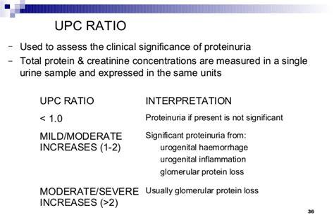 protein creatinine ratio urinalysis