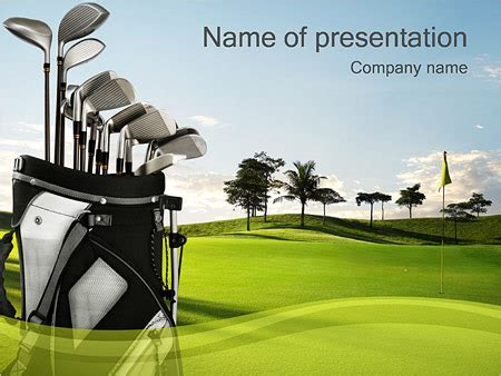 golf field powerpoint template backgrounds id 0000001107