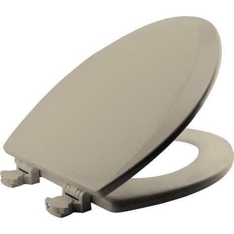 bemis seat bemis lift elongated closed front toilet seat in bone