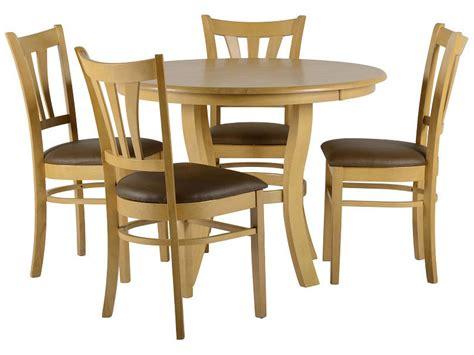 Oak Veneer Dining Table And Chairs Oak Veneer Dining Table And Chair Set With 4 Brown Leather Seats Ebay
