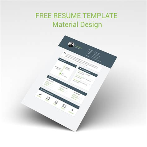material design cv template free resume template material design free psd vector icons