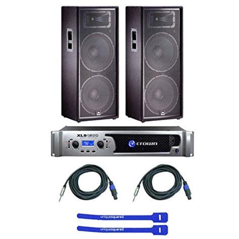 Speaker Jbl Jrx 225 Jbl Jrx 225 Dual 15 Quot Two Way Speakers W Crown Xls1500 Lifier Speakon To 1 4 Quot Cables