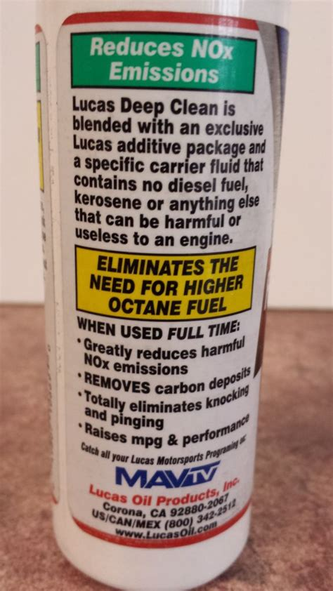 Lucas Clean Fuel System Cleaner 2 x lucas clean fuel system cleaner treatment for any type of vehicle 155ml mj products