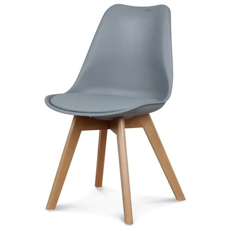chaise design scandinave grise scandy