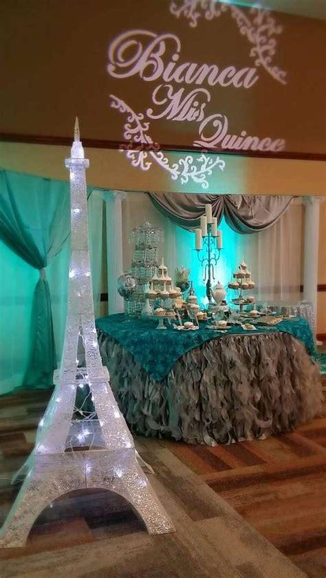 french parisian quinceanera party ideas photo