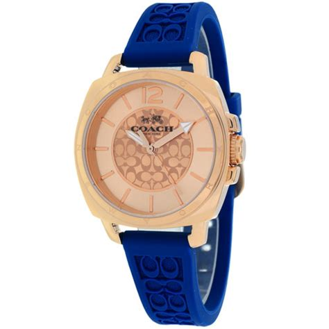 Coach Watche 14502095 Rubber Jam New Branded Original nwt coach s blue silicone gold boyfriend 14502095 195 ebay