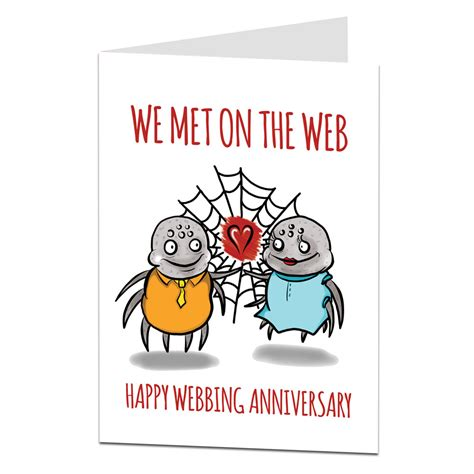 Wedding Anniversary Card Not On The High by Wedding Anniversary Card We Met On The Web