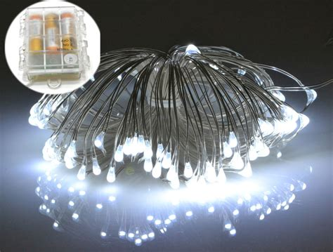outdoor rice lights micro led silver wire battery rice lights waterproof