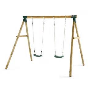 Swing With Marmoset Wooden Swing Set Plum Play