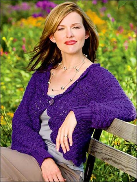 Swetter Shella top 10 free crochet patterns for stylish inspired cardigans