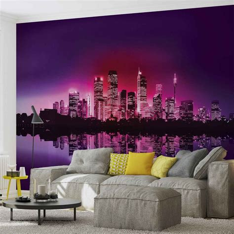 buy wall mural city new york skyline wall paper mural buy at abposters