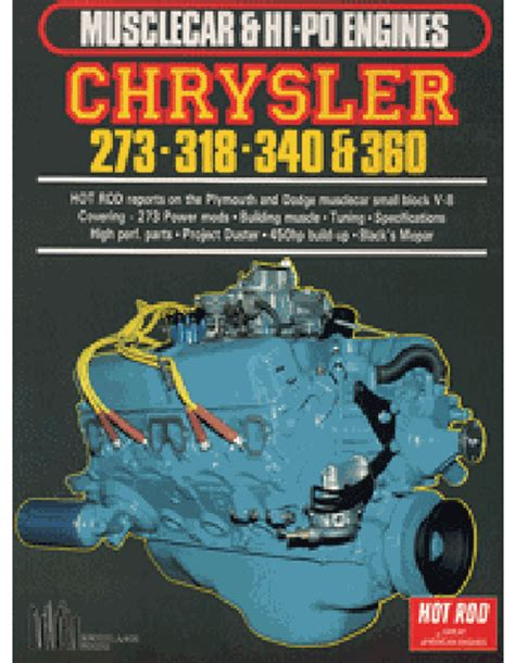plymouth report chrysler 273 318 340 360 engine reports dodge plymouth ebay