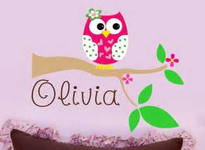 Nursery Name Wall Decals Owl Wall Decal Personalized Nursery Wall Decal Owl By Lucylews