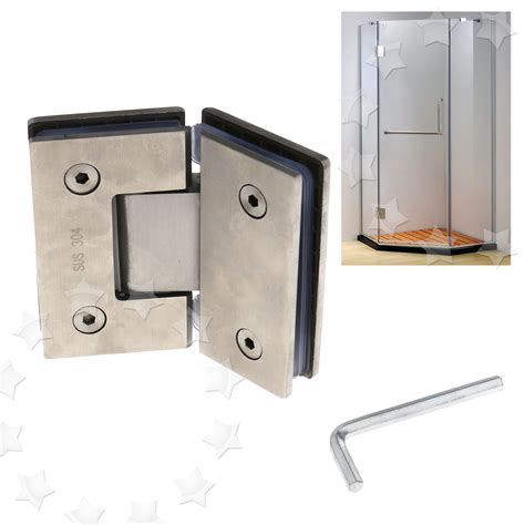 glass clips for doors stainless steel frameless glass to shower door hinge