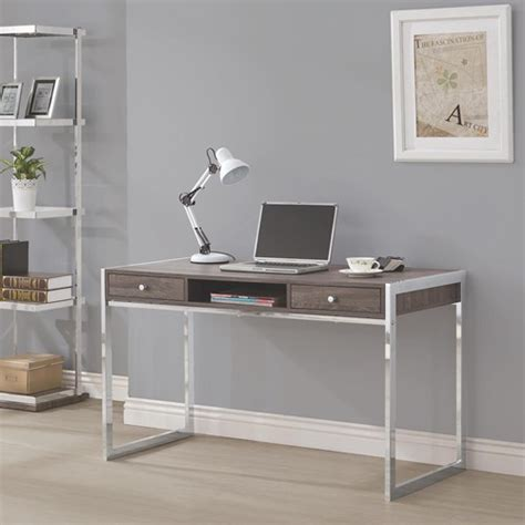 Home Office Desk Gray Co Furniture Desks Home Office Grey Contemporary Desk