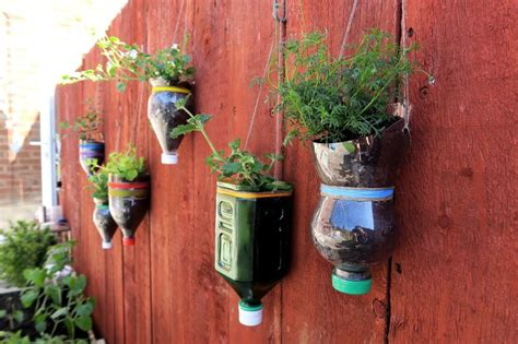artistic ideas of plastic bottle recycle as planter pots