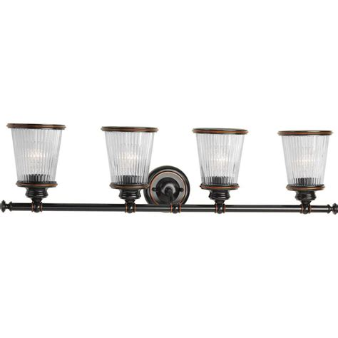4 light vanity light bronze progress lighting radiance collection 4 light rubbed