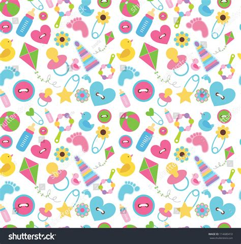 cute baby pattern stock vector image of horse collection cute baby pattern design vector illustration stock vector