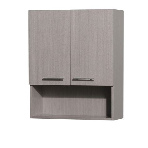 Grey Bathroom Wall Cabinet Wyndham Collection Centra 24 In W X 29 In H X 8 1 2 In D Bathroom Storage Wall Cabinet In
