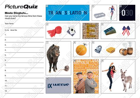 film quotes quiz round quiz number 052 with movie dingbats picture round