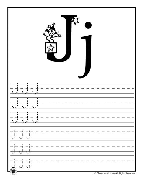 Letter J Worksheets by Learn Letter J Woo Jr Activities