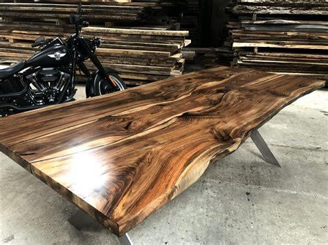 epoxy table top edges walnut table top w epoxy encapsulation resin