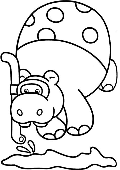 amazing coloring pages hippopotamus printable coloring pages