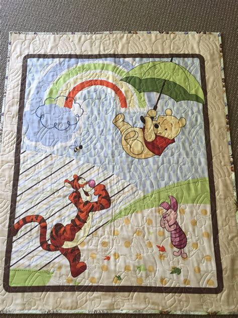 Winnie The Pooh Quilt by Winnie The Pooh Quilt With Matching Backing Fabric Crib Quilt