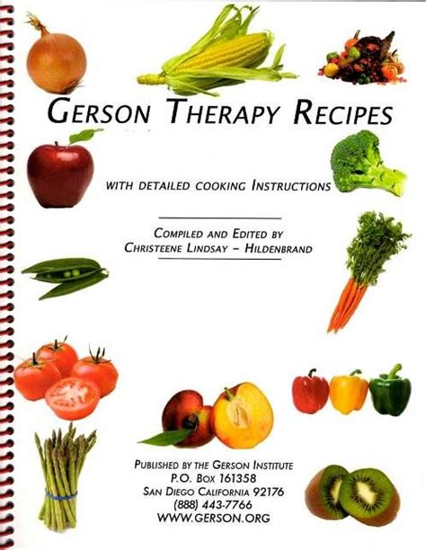 Gerson Detox Plan by Gerson Therapy Recipe Book Nutrition