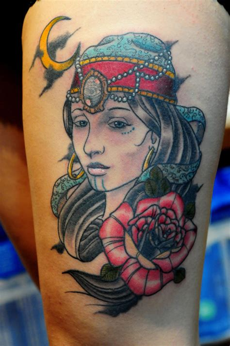 traditional gypsy tattoo neo traditional tattoos www imgkid the image