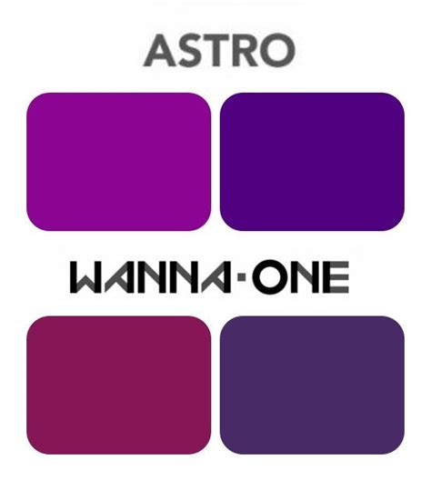 astros colors wanna one for using astro s official colors for