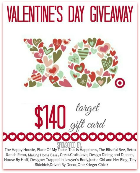 Target Gift Card Giveaway - upcoming valentine s day project blog hop giveaway driven by decor