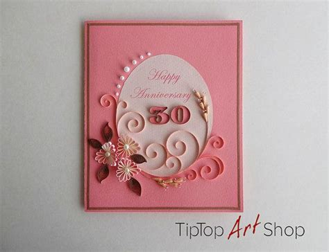 quilling anniversary greeting card with handmade 3d paper