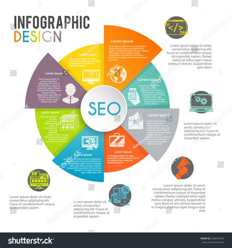 Free Resume Samples Examples seo internet marketing infographics set with web search