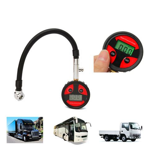 Tire Air Pressure Digital 0 200psi Metal Digital Tire Lcd Manometer Air Pressure