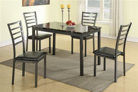 modern small dining room furniture marble top table pc