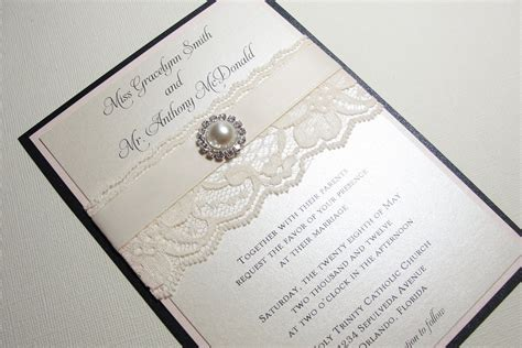 How To Make Handmade Invitations - pearl wedding accessories handmade etsy wedding finds