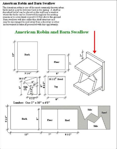 american robin bird house plans 187 woodworktips
