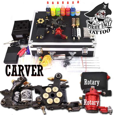 tattoo gun kit carver rotary 4 gun rotary kit
