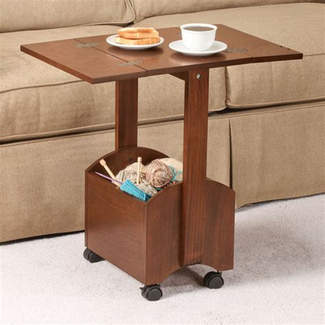 rolling folding side table by oakridge accents easy comforts