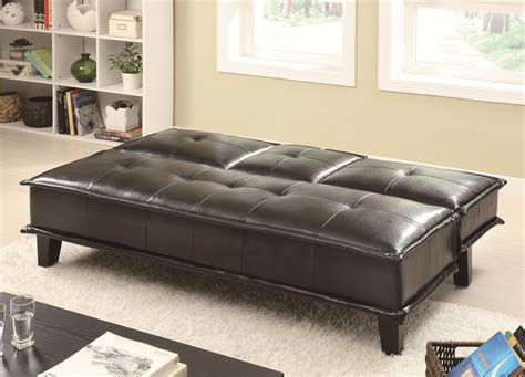 Where To Drop Mattress by Black Vinyl Sofa Bed With Drop Table
