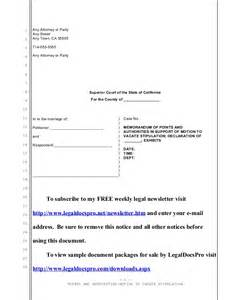 stipulation agreement template sle motion to vacate stipulation in california divorce
