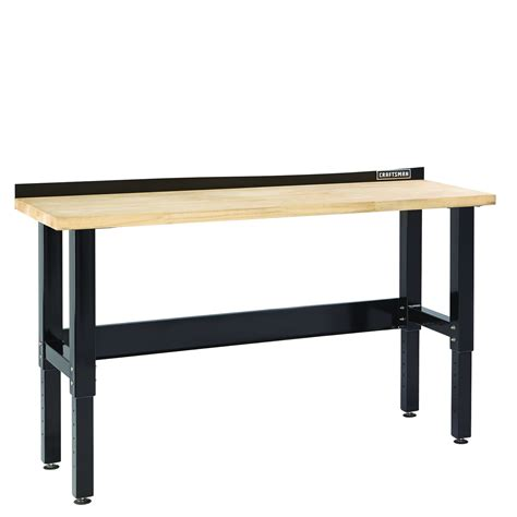 work bench top craftsman premium heavy duty 6 workbench with butcher