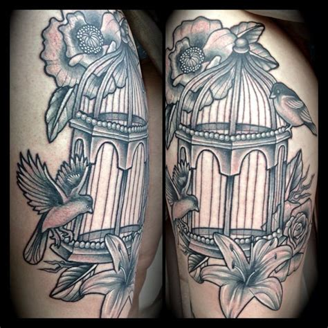bird cage tattoos pretty bird cage tattoos cage