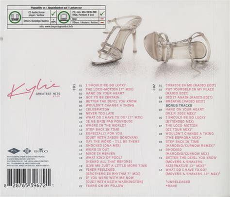 Kaset Minoque Album Gretaest Hit 87 97 minogue greatest hits 87 97 german 2 cd album set cd 571384